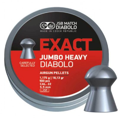 Пули для пневматики cal. 5.5mm, JSB Exact Jumbo Heavy Diabolo 1,175гр