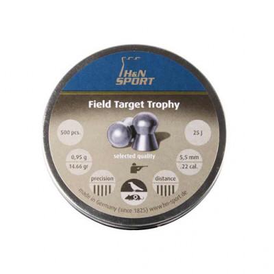 Пули для пневматики cal. 5.5mm, H&N Sport Field Target Trophy 0,95гр