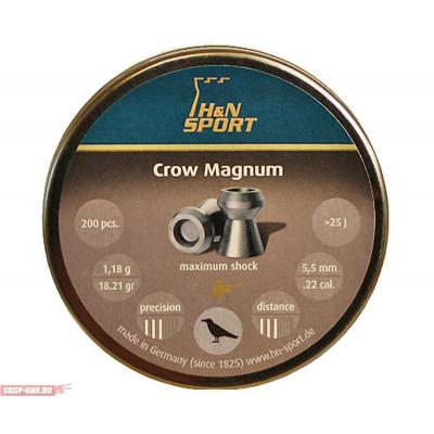 Пули для пневматики cal. 5.5mm, H&N Sport Crow Magnum 1,18гр