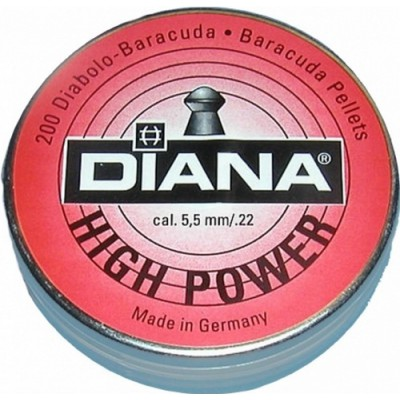 Пули для пневматики cal. 5.5mm, Diana High Power 1,37гр