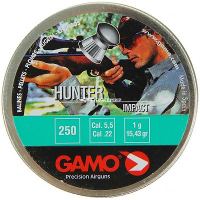 Пули для пневматики cal. 5.5mm, Gamo Hunter Impact 1,00гр