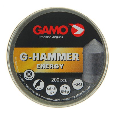 Пули для пневматики cal. 4.5mm, Gamo G-Hammer Energy 1.00гр