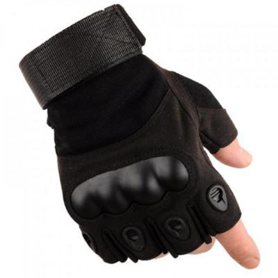 Перчатки защитные, (без пальцев, чёрные)