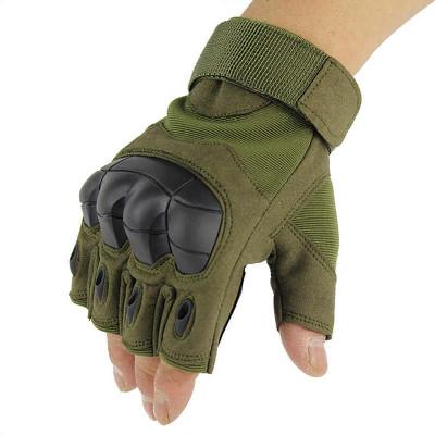 Перчатки защитные,  (без пальцев, зелёные)