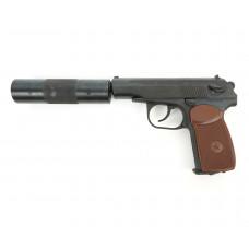 Пневматический пистолет cal. 4.5mm, Baikal MP654K-22 (ПМ, с глушителем)