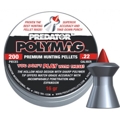 Пули для пневматики cal. 5.5mm, JCB Predator Polymag 1,037гр