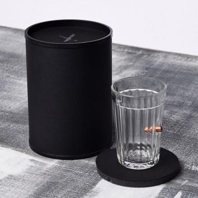 """Пуля в стакане, Стакан """"Граненый"""" 250 мл (TUBE)"""