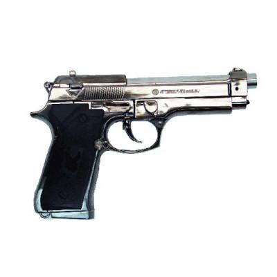 Зажигалка газовая, пистолет Beretta малая серебристая