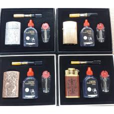 Набор подарочный, зажигалка+мундштук в ассортименте