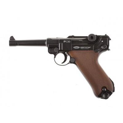 Пневматический пистолет cal. 4.5mm, Gletcher P08 реал