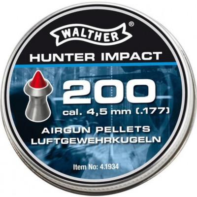 Пули для пневматики cal. 4.5mm, Umarex Walther Hunter Impact 0.46гр