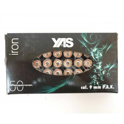 Патрон светозвуковой (холостой) cal. 9 мм P.A.K. Iron Blank (YAS) (рреал)