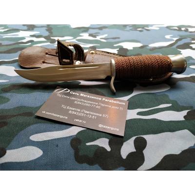 Нож Коллекционный , рукоять обмотка веревкой.с долом.