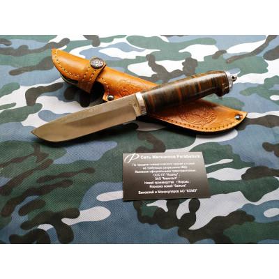 Нож Коллекционный , рукоять, наборное дерево, штамп Лось