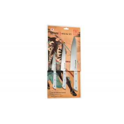 Набор Кухонных Ножей 3-шт Samura SHR-0220W/K (Harakiri)