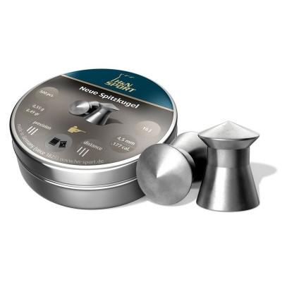 Пули для пневматики cal. 4.5mm, H&N Sport Neue Spitzkugel 0.55гр