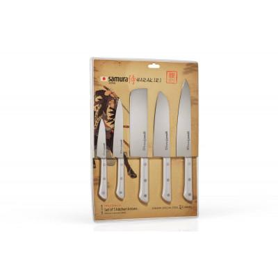 Набор Кухонных Ножей 4+ шт Samura SHR-0250W/K (Harakiri)